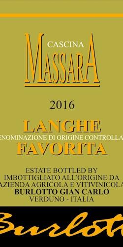 Cantina MASSARA LANGHE FAVORITA 2016