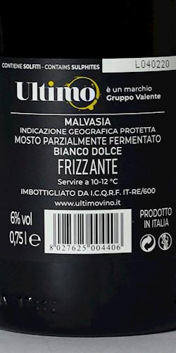 UltimoVino Ultimo Malvasia Dolce 2020