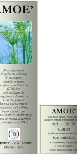 Saporicentroitalia AMOE'-Digestivo al finocchieto selvatico 2018