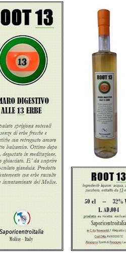 Saporicentroitalia ROOT13 - Amaro digestivo alle 13 erbe 2019