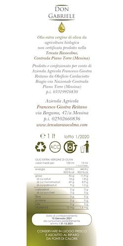 Tenuta Rasocolmo OLIO E.V.O. DON GABRIELE 1lt 2020