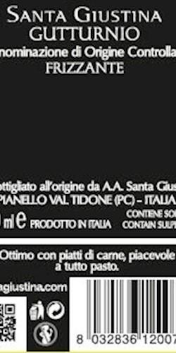 Santa Giustina GUTTURNIO FRIZZANTE DOC 2018