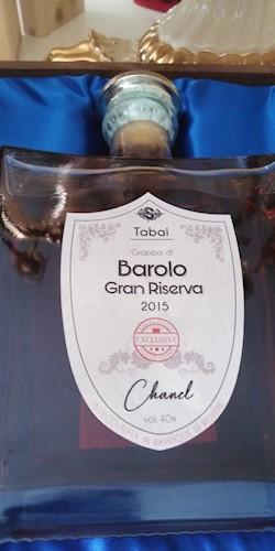 Tabai Barolo GRAPPA  BAROLO ELIMITATA CHANEL  2015 2015