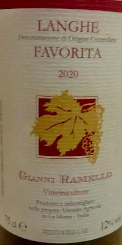 Gianni Ramello Langhe Doc Favorita 2020