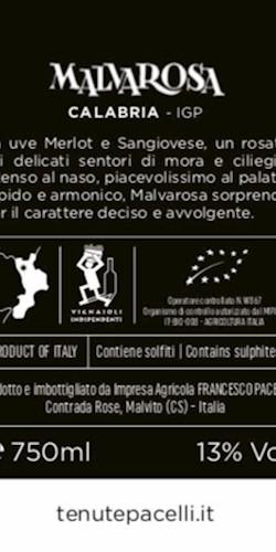 Tenute Pacelli Malvarosa 2016