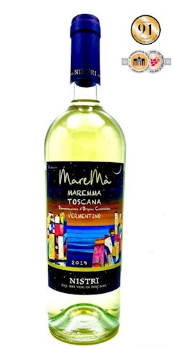 "Nistri Dal 1865 Vini in Toscana ""MareMà"" Maremma Toscana Vermentino 2019"