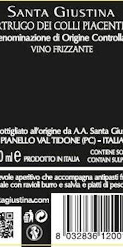 Santa Giustina ORTRUGO DEI COLLI PIACENTINI DOC 2018