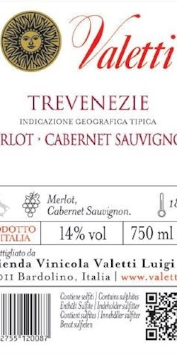 Valetti LOTARIO      Merlot - Cabernet Sauvignon 2016