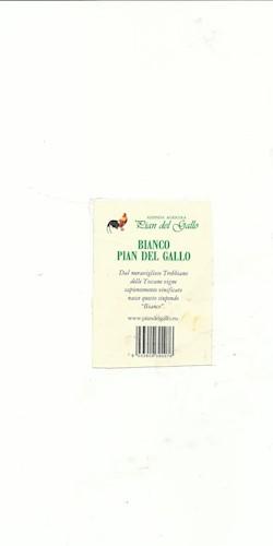 """Pian del Gallo Bianco """"Pian del Gallo"""" 2019"""