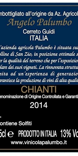 Palumbo Angelo Chianti D.O.C.G. 2014