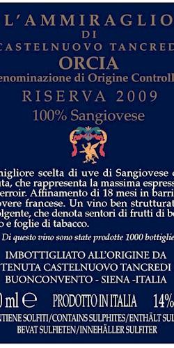 Tenuta Castelnuovo Tancredi  Ammiraglio 2009