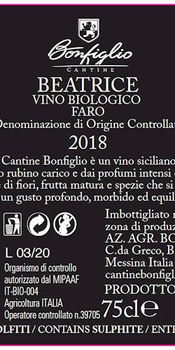 Cantine Bonfiglio BEATRICE 2018