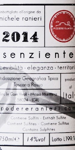 Podere Ranieri Senziente 2015