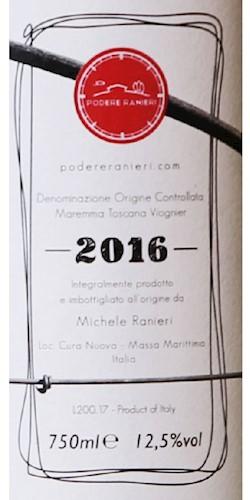 Podere Ranieri Solo Viognier 2016